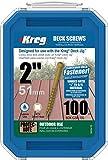 KREG SDK-C2W-100 2-Inch, 8 Coarse, Deck Screw, 100 Ct