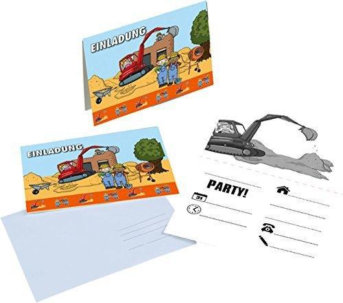 tib 19545 Einladungskarten A6 mit Umschlägen C6 16-teilig, mehrfarbig, One Size
