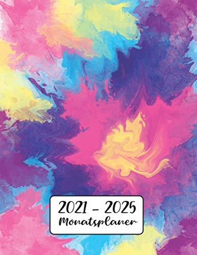 Monatsplaner 2021-2025: Krawatten Farbstoff | 5 Jahre Kalender, Buchkalender | Terminplaner von Januar 2021 bis Dezember 2025