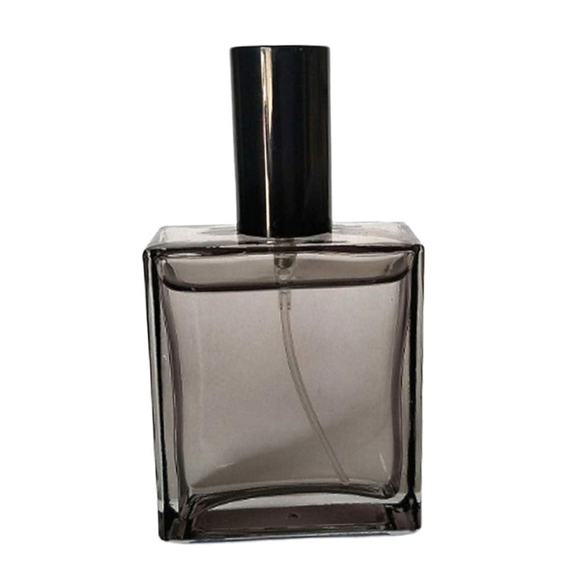 話す失う中で香水アトマイザー スプレーボトル 詰め替え 香水瓶 小分けボトル 小型 旅行 持ち運び 50ML ブラック