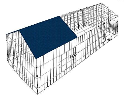 VivaPet Rabbit Run, motivo: cucciolo di gatto, motivo: cucciolo con tetto spiovente, con protezione solare rete, 220 cm x 103 x 103 cm