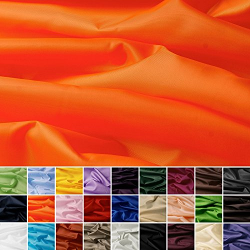 aktivstoffe Seda Tafetán - 100% poliéster - por Metro - 27 Colores (Naranja)