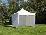 Tente Pliante Chapiteau Pliable Tonnelle Pliante Barnum Pliant FleXtents Pro 3x3m Blanc, avec 4 cotés