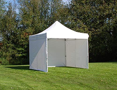 Dancover Faltzelt Faltpavillon Wasserdicht FleXtents PRO 3x3m Weiß, mit 4 Seitenwänden
