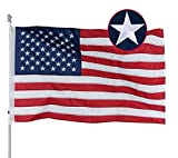 Homissor Durable American USA Flag 3x5 4x6 Embroidered Stars- Longest Lasting US Flag Made from Nylon Sewn Stripes Outdoor Indoor