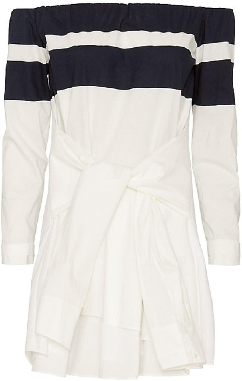 Derek Lam 10 Crosby Striped Shirt Dress 10