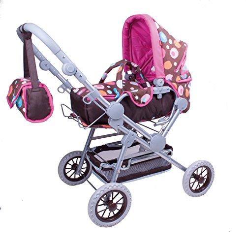 Knorr Toys knorr10813Twingo S–Cochecito de muñecas de marrón Splash y Buggy