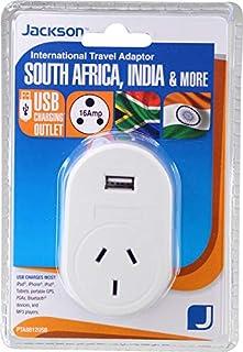 Jackson Outbound Travel Adaptor w/USB - South Africa, (PTA8812USB)