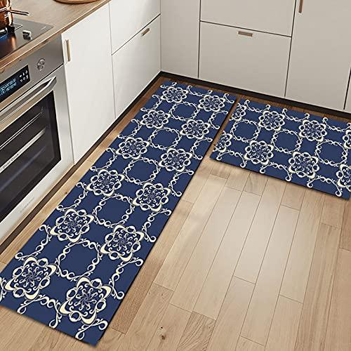 WESG Alfombrillas Antideslizantes de Cocina, Alfombrillas de decoración del hogar para la Sala de Estar y el Dormitorio del hogar, alfombras absorbentes de baño NO.5 50X80cm