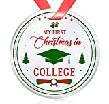 Elegant Chef First Year of College Christmas Ornament- My First Christmas in College- Xmas Holidays...