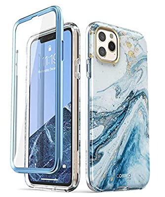 i-Blason Cosmo Series Case for iPhone 11 Pro Max 2019 Release, Slim Full-Body Stylish Protective Case with Built-in Screen Protector (Blue)