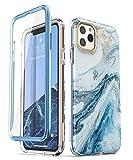 i-Blason iPhone 11 Pro Hülle Glitzer Handyhülle 360 Grad Case Bling Schutzhülle Bumper Cover [Cosmo] mit integriertem Displayschutz 5.8 Zoll 2019 Ausgabe (Blau)