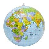 Equipos de Oficina de la Escuela Océano Globo Inflable Mundial de la Tierra Bola Mapa Geografía de Aprendizaje de los niños for la Educación Pelota de Playa, Tamaño: 30 cm