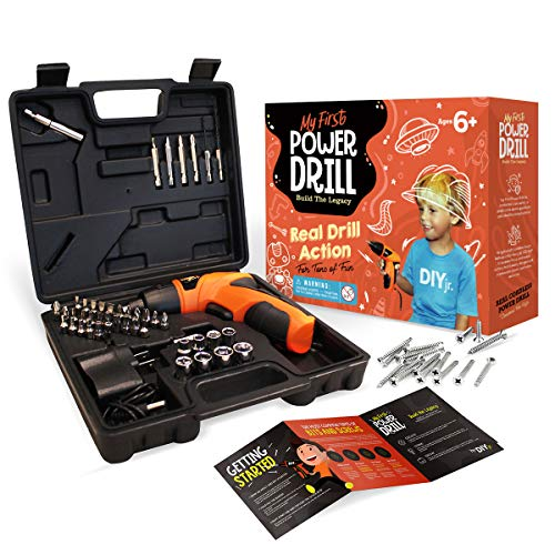 Product Image of the My First Power Drill Set - Real Cordless Drill for Boys and Girls - Lightweight,...