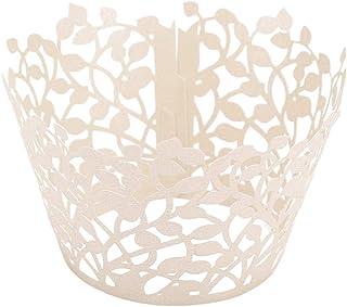 ifundom Lot de 50 feuilles de papier pour décoration de gâteau - Pour maison, magasin, mariage - Blanc titane