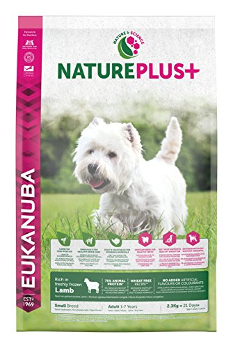 Eukanuba Nature Plus Lamb Adult Small per Cani Aduli di Taglia Piccola con Agnello - 2.3 kg