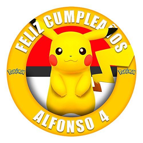 OBLEA de Papel de azúcar Personalizada, 19 cm, diseño de Pikachu Pokemon