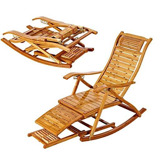 WJJJ Schaukelstuhl Schaukelstuhl Schaukel Entspannender Liegestuhl Sitzbank Bamboo Indoor Outdoor
