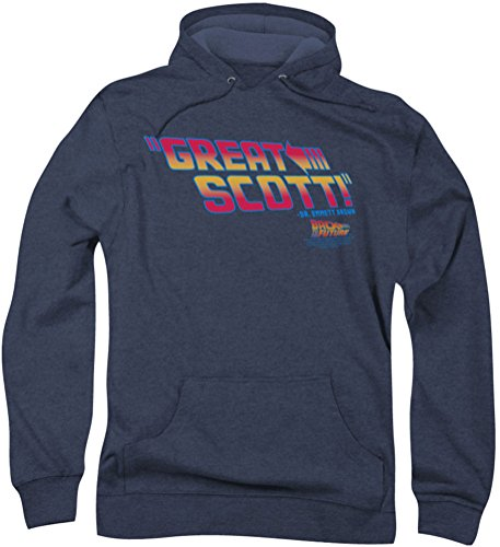 Back To The Future - - Great Scott capuche pour hommes, Large, Navy