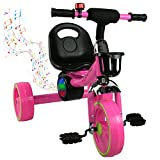 Airel Bici Correpasillos | Triciclos para Niños | Triciclo con Asiento | Bicicleta de Equilibrio con Pedales | Triciclo Bici con Sonido