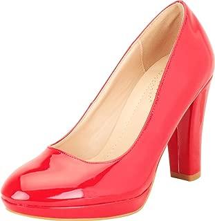Cambridge Select Women's Slip-On Chunky Platform Block High Heel Pump