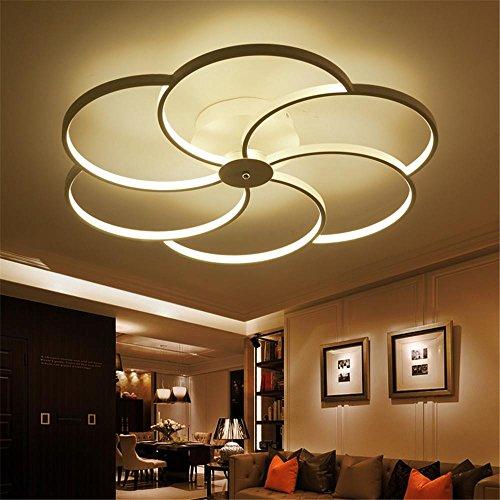 NIHE Lampe de plafond minimaliste LED de 80 cm, salon, salle à manger, chambre d'enfants, bureau, plafonnier personnalisé, éclairage , white