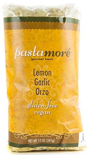 Pastamore Gluten-Free Pasta, Lemon Garlic Orzo, 12 Ounce