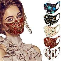 マスク 多枚入り 秋冬用 洗えるマスク 可愛い クリスマス 雪柄 男女兼用 フィット感 耳が痛くなりにくい 呼吸しやすい 伸縮性抜群 立体構造 繰り返し使える スポーツマスク コスプレ コスチューム