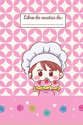 ' Libro de recetas de ' :: LIBRO DE RECETAS PARA NIÑOS - Libro de cocina infantil personalizado - 43 tarjetas de recetas para completar
