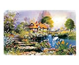 YKCKSD Jigsaw Puzzles for Adults 1000 Piece, Lac des Cygnes Sauvages 3D Puzzles Classiques