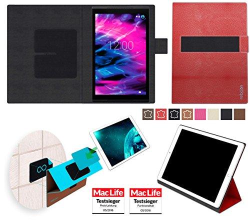 Hülle für Medion Lifetab S10352 (MD 99482) Tasche Cover Case Bumper | in Rot Leder | Testsieger