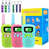 Walkie Talkies for Kids, 3 Packs Kids Walkie Talkies Support Voice Activation(VOX) Talking, Best Gifts Toys for 3-12 Year Old Boys Girls, Outdoor Kids Toys for Backyard, Kids Camping Activities