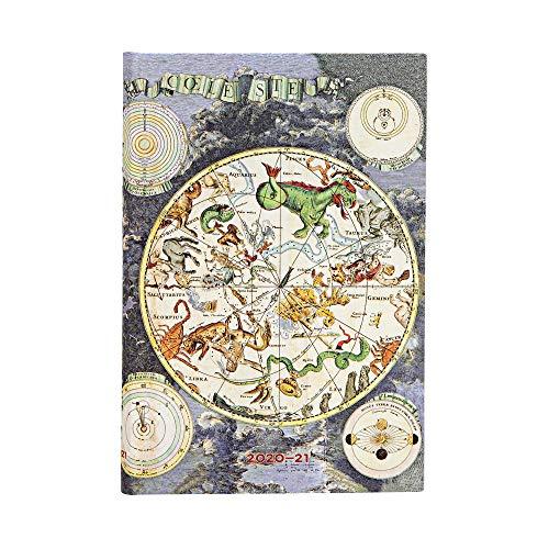 Paperblanks Frühe Kartografie Himmlische Karte Kalender 18 Monate 2021 Mini Wochenüberblick Horizontal Hardcover Einband deutschsprachige Ausgabe