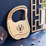 S SMAUTOP Harpe Lyre 19 cordes, harpe en acajou en bois massif avec sac de...