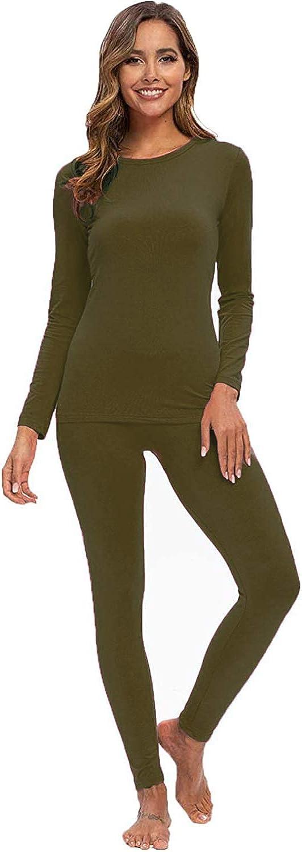Artfish Women's Ultra Soft Thermal Underwear Long Johns Set with Fleece Lined