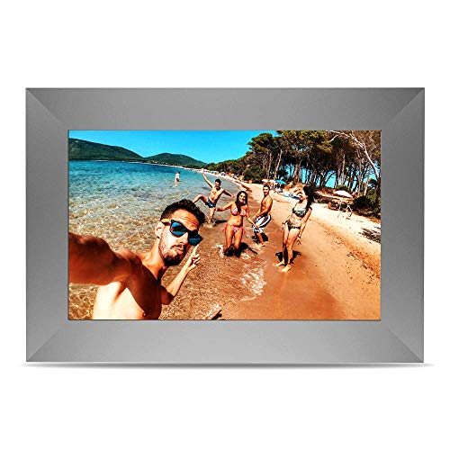 Yuntab 10,1 Zoll SCISHION P100 digitaler Fotorahmen, ChipTrip 1280HD-Chipsatz, 179 ° Betrachtungswinkel (Gray)