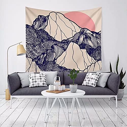 MIKUAJ tapizTela Colgante Arte Tapiz de Pared Decoración del hogar Impresión Rectángulo Poliéster