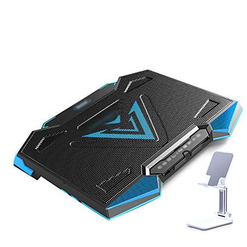 Xbd Refrigerador portátil,Base de Refrigeración para Ordenador Portátil,12-18 Pulgadas Gaming Laptop Cooler Cooling Pad,5 Ventiladores silenciosos,7 ajustes de Altura,2 Puertos USB