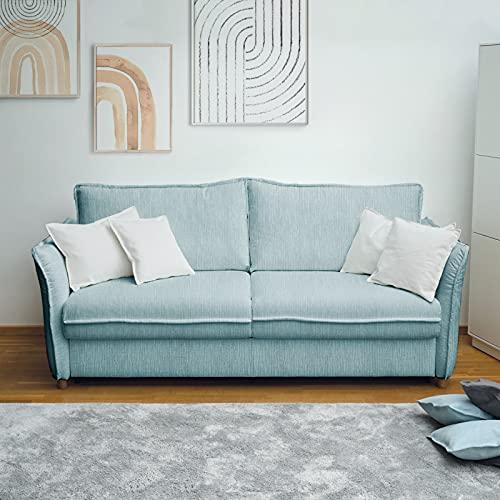 place to be. M18631 - Sofá cama plegable (160 cm de ancho, con cajón, 3 plazas, con función de dormir, plegable, color roble macizo)