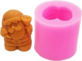 Longzang Soap Molds 3D Santa Claus Craft Art Silicone Soap mold Craft Molds DIY Handmade soap molds