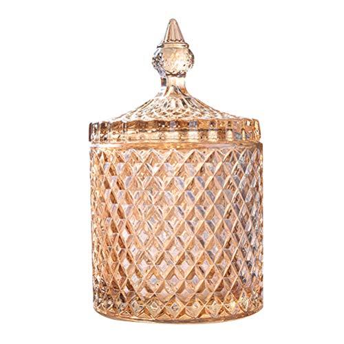 Besonzon - Bombonera de cristal con tapa para confitera y bombonera de cristal cubierto de vidrio (jarra)