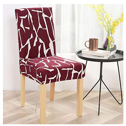 ZIXING Fashion Fundas Protectoras para sillas de Comedor Elásticas y Modernas para sillas de Comedor, Banquetes de Boda, decoración de Fiesta 1 Pieza