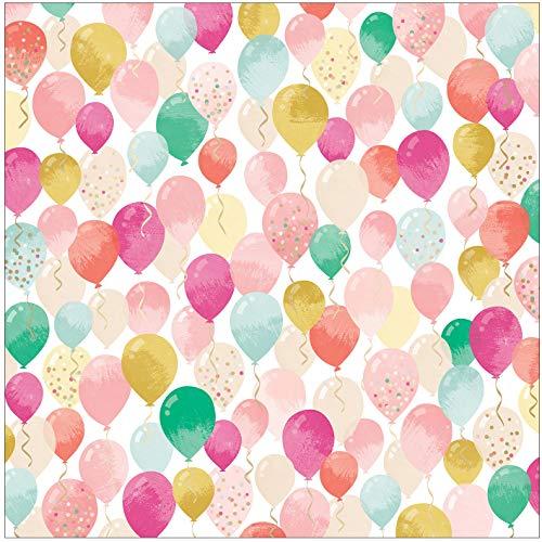 Roze Paislee en nog veel meer papier, Acetaat W/Champagne folie, One Size