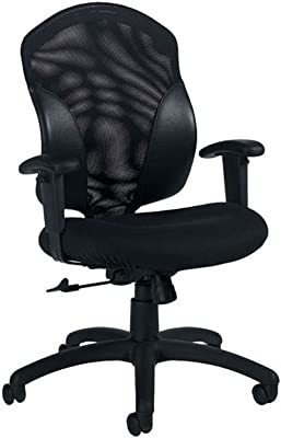 Tye Mesh and Fabric Mid-Back Ergonomic Chair Dimensions: 25