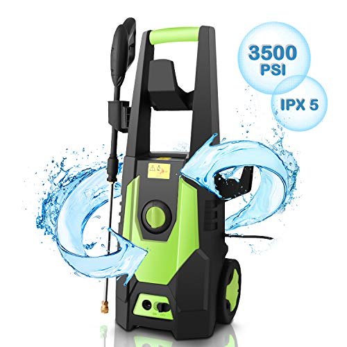 CHAKOR 3500PSI Pressure Washer Electric, 2.0GPM High Power Washer Cleaner Machine with Long Hose, 4...