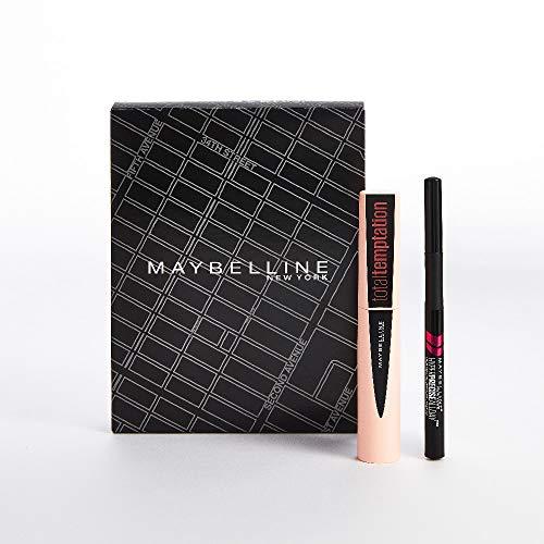 Maybelline New York, Set de Maquillaje para Ojos, Incluye Máscara de Pestañas Total Temptation y Eyeliner Hyper Precise, para Una Mirada con más Volumen e Intensidad