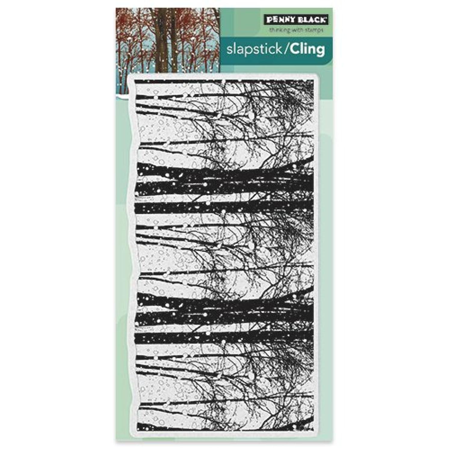 Penny Black 40-418 Snowy Grove Slapstick/Cling Decorative Rubber Stamp