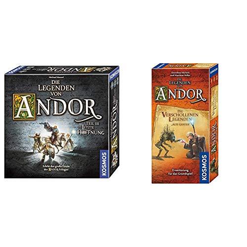 Kosmos 692803 - Die Legenden von Andor - Teil III Die letzte Hoffnung, Fantasy-Brettspiel ab 10 Jahre & Kosmos Die Legenden von Andor - Die verschollenen Legenden Alte Geister