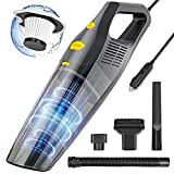 Handheld Car Vacuum Cleaner with High Power,7000PA DC 12V Portable Black Detailing Cleaners Dust Buster with Strong Suction,Mini pet Vacuum for Car Cleaning/Carpets/Floors/Deep Cleaning.