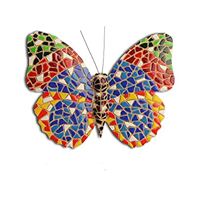 Wall Art Mosaic Butterfly Multi Coloured OGD231